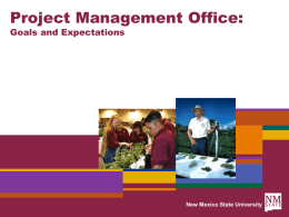 Initial PMO Presentation - ICT Project Management Office