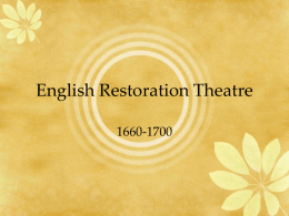 English Restoration Theatre