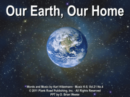 Our Earth, Our Home - Bulletin Boards for the Music Classroom