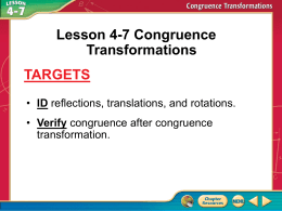 4.7 Congruence Transformations