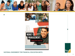 Module 1 - Money Management - University of Idaho Extension