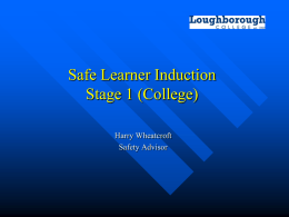 Safe learner induction (College)