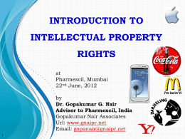 introduction to intellectual property rights