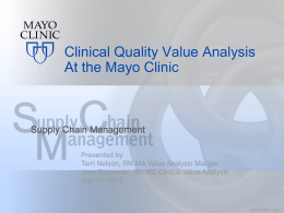 Clinical Quality Value Analysis