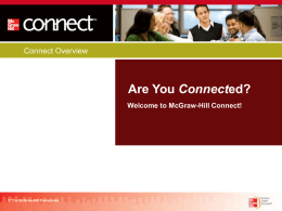 Connect: Power Point Presentation