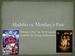 Aladdin vs. Monkey`s Paw