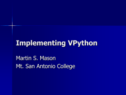 VPython Project implementation