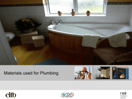 Materials Used for Plumbing