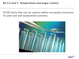 Ppt B3.3.2 and 3 Temperature and sugar control