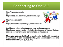 Connecting to OneCSIR