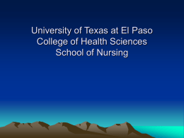 University of Texas at El Paso College of Health Sciences School of