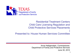 Presentation to the Texas CASA Chapter??