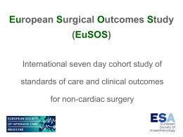 EuSOS Slide set - European Surgical Outcomes Study