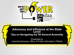 Session 11 - Advocacy and Influence at the State Level