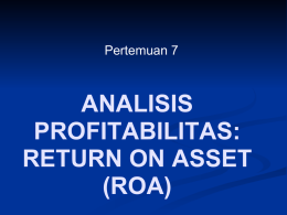 7. Return on Asset (ROA)