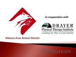 Concussion - Altoona Area School District