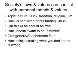 Society`s laws & values can conflict with personal morals & values.