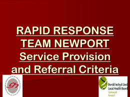 rapid response referral criteria