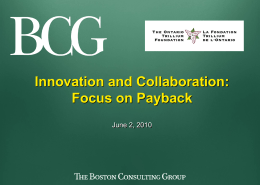 Slide 0 - Collaboration for Innovation / Collaborer pour innover