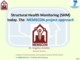 Structural Health Monitoring-SHM Applications