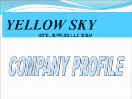 YELLOW SKY HOTEL SUPPLIERS