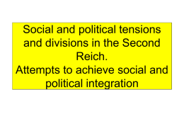Social and political tensions and divisions in the