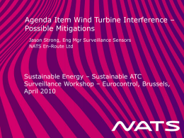 Wind Turbine Interference – Possible Mitigations