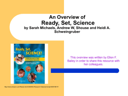 An Overview of Ready, Set, Science by Sarah Michaels