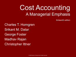 Costs of quality, ethical considerations