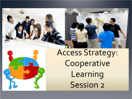 Cooperative Learning PD Session 2