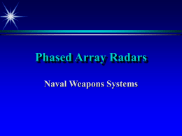 Phased Array Radars - University of Arizona NROTC