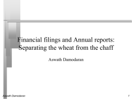 SEC filings and annual reports: Separating the wheat
