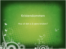 Powerpoint kristendommen