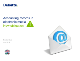 Accounting records in electronic media