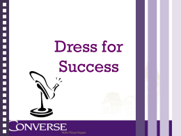 Dress for Success - Converse College