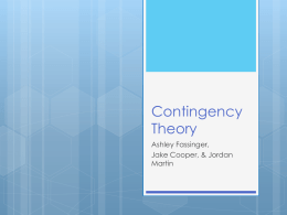 Contingency Theory Powerpoints