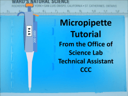 Micropipette Tutorial
