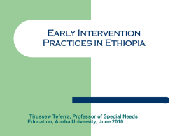 Early Intervention Practices in Ethiopia