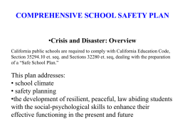 COMPREHENSIVE SCHOOL SAFETY PLAN