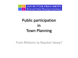 Public Participation in Town Planning