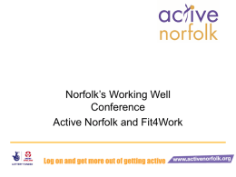 Physical Activity - Shelley Starking (Active Norfolk)