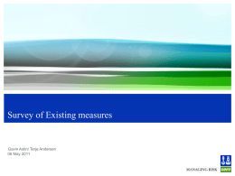 Existing Measures