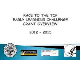 race to the top: early learning challenge grant