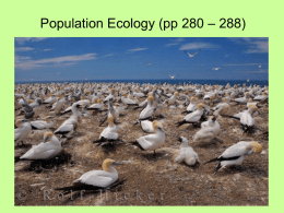 Populations in Ecology