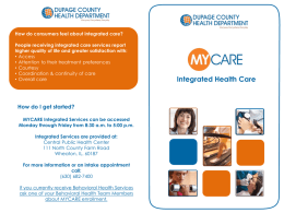MYCare Integrated Health Care