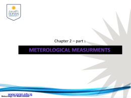 1) Weather instrument and their uses