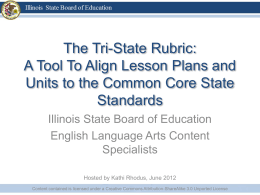 Tri-State Rubric PowerPoint - Illinois State Board of Education