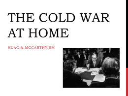 The Cold War at Home PowerPoint
