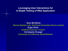 In Depth Testing of Web Applications