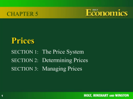 Chapter 5 Prices - Mr Brennan`s Website